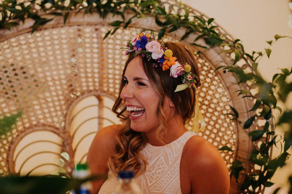 floral wedding head dress